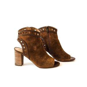 Franco Sarto GREENWICH Cut Out Peep Toe Booties